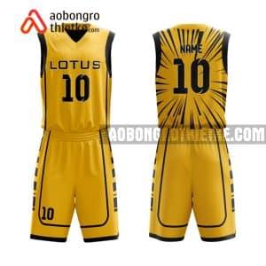 Mẫu quần áo bóng rổ Đại học RMIT màu vàng hot nhất ABR652