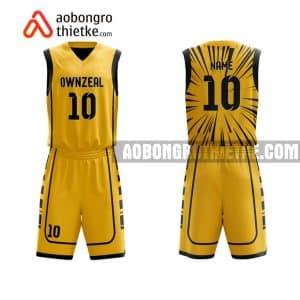 Mẫu quần áo bóng rổ Đại học Sài Gòn màu vàng lạ nhất ABR663
