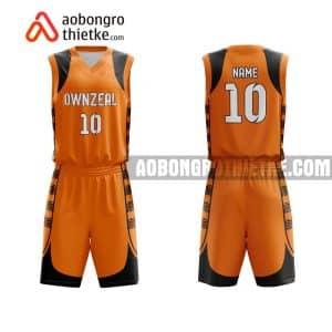 Mẫu quần áo bóng rổ Đại học Sư phạm Hà Nội 2 màu cam mới nhất ABR669