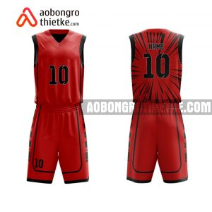 Mẫu quần áo bóng rổ Đại học Sư phạm Kỹ thuật Hưng Yên màu đỏ lấy ngay ABR650