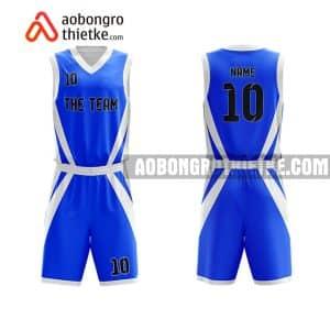 Mẫu quần áo bóng rổ Đại học Sư phạm Kỹ thuật TP HCM màu xanh lạ nhất ABR648