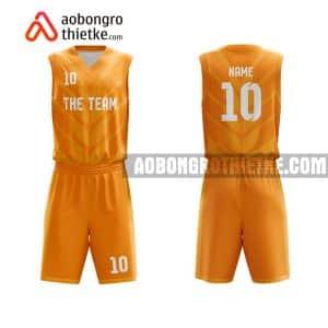 Mẫu quần áo bóng rổ Đại học Tây Nguyên màu cam gần đây ABR702