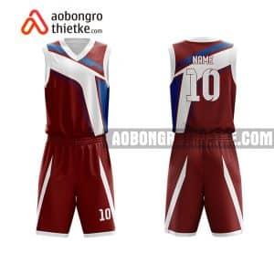 Mẫu quần áo bóng rổ Đại học Thái Nguyên màu nâu yêu thích nhất ABR623