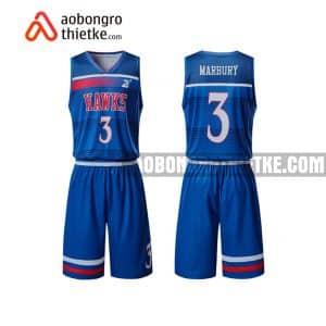Mẫu quần áo bóng rổ Đại học Thăng Long màu xanh lạ nhất ABR693