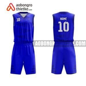 Mẫu quần áo bóng rổ Đại học Tôn Đức Thắng màu xanh in nhanh ABR626
