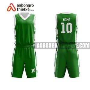 Mẫu quần áo bóng rổ Đại học Trà Vinh màu xanh lá chất lượng nhất ABR629