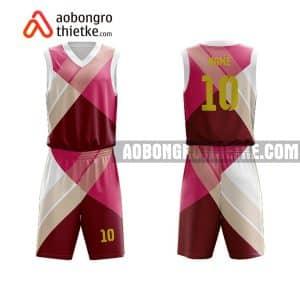 Mẫu quần áo bóng rổ Đại học Văn hóa Hà Nội màu hồng đẹp nhất ABR676
