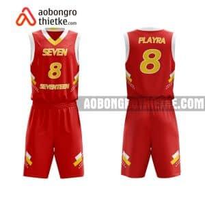 Mẫu quần áo bóng rổ Đại học Việt Đức màu đỏ đẹp nhất ABR661