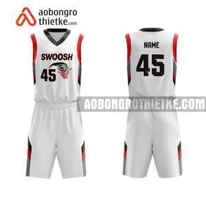 Mẫu quần áo bóng rổ Đại học Vinh màu trắng lạ nhất ABR633