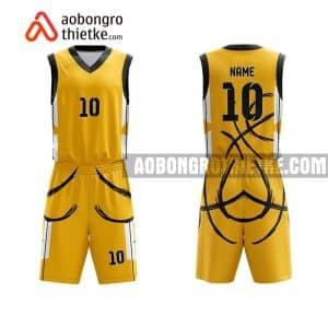 Mẫu quần áo bóng rổ Đại học Y Hà Nội màu vàng mua nhiều nhất ABR630
