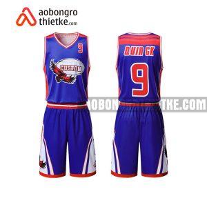 Mẫu quần áo bóng rổ Đại học Y dược Hải Phòng màu xanh uy tín nhất ABR703
