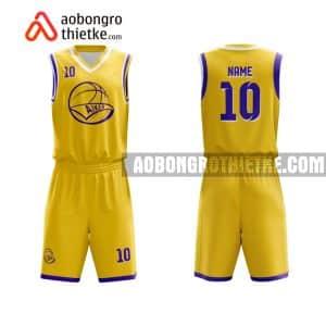 Mẫu quần áo bóng rổ Đại học Y khoa Phạm Ngọc Thạch màu vàng chất lượng nhất ABR674