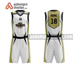 Mẫu quần áo bóng rổ Đại học Y tế công cộng màu trắng chính hãng ABR655