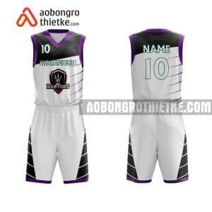 Mẫu quần áo bóng rổ Học viện Hành chính Quốc gia màu trắng lấy ngay ABR710