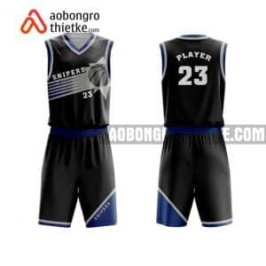 Mẫu quần áo bóng rổ Học viện Kỹ thuật Quân sự màu đen đẹp nhất ABR646