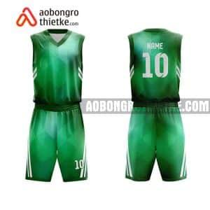 Mẫu quần áo bóng rổ Học viện Nông nghiệp Việt Nam màu xanh lá lạ nhất ABR618