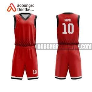 Mẫu quần áo bóng rổ Học viện Tài chính màu đỏ yêu thích nhất ABR683