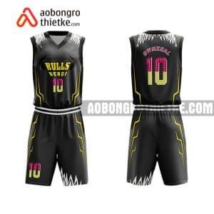 Mẫu quần áo bóng rổ Khối Chuyên ĐH Khoa học Huế màu đen độc nhất ABR767
