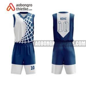 Mẫu quần áo bóng rổ Khối chuyên ĐHNN Huế màu xanh hot nhất ABR847