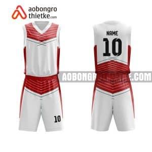 Mẫu quần áo bóng rổ TH PT Phan Đình Phùng màu hồng tốt nhất ABR786