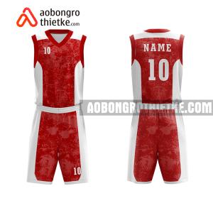 Mẫu quần áo bóng rổ THPT BC Nguyễn Tất Thành màu đỏ chính hãng ABR760