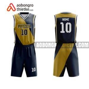Mẫu quần áo bóng rổ THPT Bình Giang màu cam độc nhất ABR812