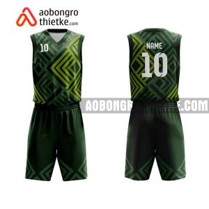 Mẫu quần áo bóng rổ THPT Châu Văn Liêm màu nâu mới nhất ABR909