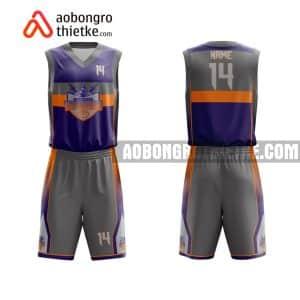 Mẫu quần áo bóng rổ THPT Chuyên Bắc Giang màu đen chính hãng ABR745