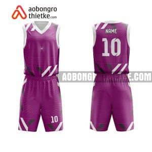 Mẫu quần áo bóng rổ THPT Chuyên Bắc Ninh màu tím chính hãng ABR730