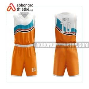 Mẫu quần áo bóng rổ THPT Chuyên Hạ Long màu cam in nhanh ABR746