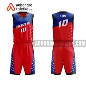 Mẫu quần áo bóng rổ THPT Chuyên Hà Nam màu đỏ lạ nhất ABR738