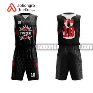 Mẫu quần áo bóng rổ THPT Chuyên Hưng Yên màu đen chất lượng nhất ABR734