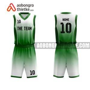 Mẫu quần áo bóng rổ THPT Chuyên Lam Sơn màu xanh lá rẻ nhất ABR739