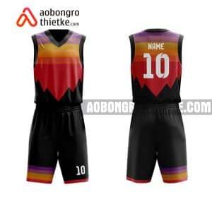 Mẫu quần áo bóng rổ THPT Chuyên Lào Cai màu cam lạ nhất ABR768