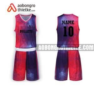 Mẫu quần áo bóng rổ THPT Chuyên Lê Quý Đôn màu tím độc nhất ABR752