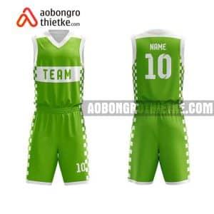 Mẫu quần áo bóng rổ THPT Chuyên Lê Quý Đôn màu xanh lá mới nhất ABR849
