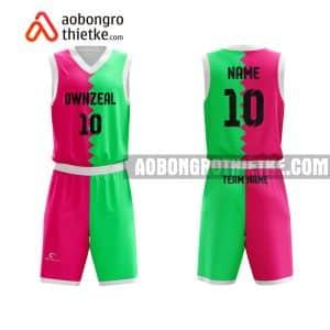 Mẫu quần áo bóng rổ THPT Chuyên Lương Thế Vinh màu hồng hot nhất ABR742