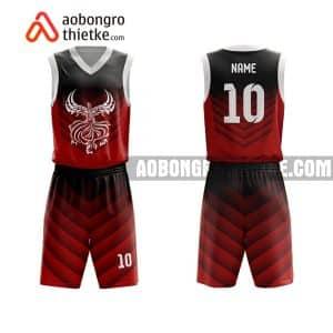 Mẫu quần áo bóng rổ THPT Chuyên Nguyễn Bỉnh Khiêm màu nâu mới nhất ABR744