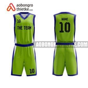 Mẫu quần áo bóng rổ THPT Chuyên Nguyễn Bỉnh Khiêm màu xanh lá hot nhất ABR772