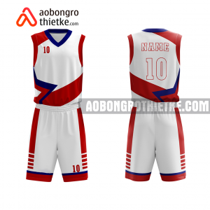 Mẫu quần áo bóng rổ THPT Chuyên Trà Vinh màu hồng chính hãng ABR775