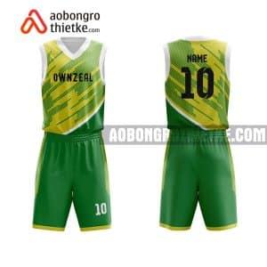 Mẫu quần áo bóng rổ THPT Chuyên Tuyên Quang màu xanh lá độc nhất ABR827