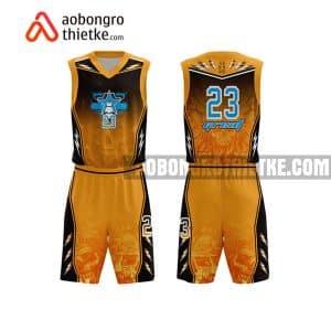 Mẫu quần áo bóng rổ THPT DL Lương Thế Vinh màu cam hot nhất ABR757