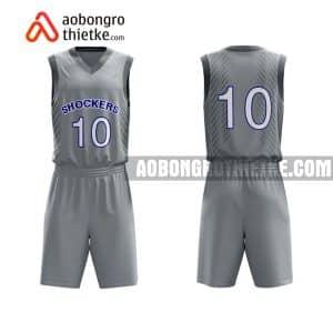 Mẫu quần áo bóng rổ THPT Đại An màu tím chất lượng nhất ABR884
