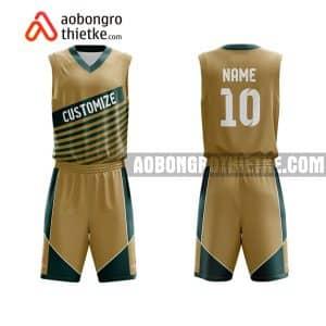 Mẫu quần áo bóng rổ THPT Đào Duy Từ màu cam đẹp nhất ABR856