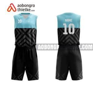 Mẫu quần áo bóng rổ THPT Diễn Châu 3 màu cam in nhanh ABR911