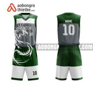 Mẫu quần áo bóng rổ THPT Giao Thuỷ B màu xanh lá gần đây ABR882