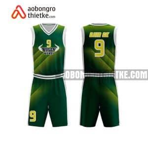 Mẫu quần áo bóng rổ THPT Hà Bắc màu xanh lá lấy ngay ABR860