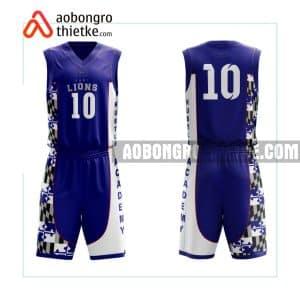 Mẫu quần áo bóng rổ THPT Hà Nội – Amsterdam màu xanh tốt nhất ABR726