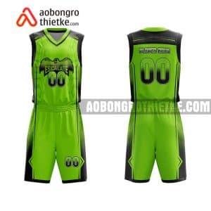 Mẫu quần áo bóng rổ THPT Hải Hậu A màu xanh lá lạ nhất ABR783