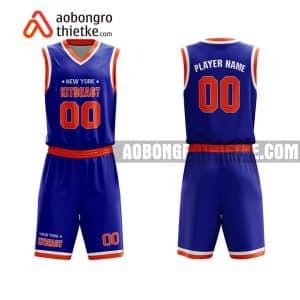 Mẫu quần áo bóng rổ THPT Hàm Rồng màu xanh in nhanh ABR791